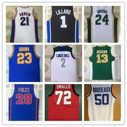Wholesale Ucla Basketball Jersey - 2018 Thai UCLA Bruins Lonzo Ball Jersey 13 Ingram 21 Joel Embiid 20 Fultz 24 Irving 1 Lillard 23 Obama 20 Hayward 72 Smalls NCAA Shirts