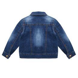 Wholesale children clothing girls denim jacket - IMMDOS Girls Denim Jackets 2018 Fashion Spring Denim Jacket Long Sleeve Boys Outwear Children Clothing Baby Autumn New Blouse