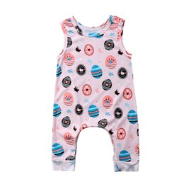 7a7154079a0b 2018 Cute Easter Baby Clothes Toddler Baby Rompers Infant Newborn Boys Girls  Printed Easter Egg Romper Jumpsuit Sunsuit Outfit Kids Clothing
