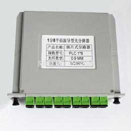 Wholesale Fiber Apc - Free Shipping 1x8 LGX Box Cassette Card Inserting SC APC PLC splitter Module 1:8 8 Ports Fiber Optical PLC Splitter