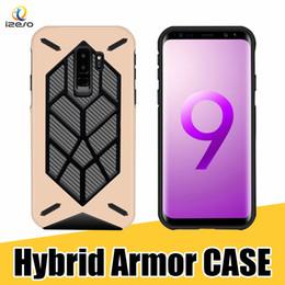Celular de carbono on-line-Para samsung s9 além de telefone case híbrido armadura de fibra de carbono tpu pc tampa traseira celular shell para iphone x 8 7 6 s 2018