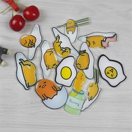 Ímãs engraçados por atacado on-line-1 peça adesivos magnéticos Engraçado Dos Desenhos Animados ovo abstrato Acrílico Frigorífico Ímãs de Decoração Para Casa por atacado