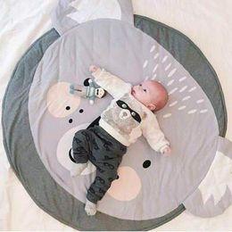 Manta de bebé Cat Koala Juego Mat Kids Crawling Carpet ropa de cama de bebé Manta de Bebé Decoración de la Habitación de los Niños 90 CM desde fabricantes