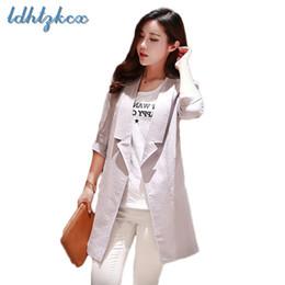 1105f1696f3f Einfarbig Blazer Frauen Frühling-Herbst koreanische Version Mode Office  Lady dünne Taschen Kerbschnitt schlank lange Abschnitt Baumwolle Anzug 104