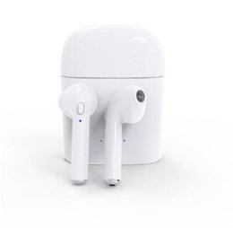 Wholesale Iphone 5pcs - I7S TWS Wireless Bluetooth Earphone Twins Earbuds Chargers Box for IphoneX 8 7 Android Samsung sony Headphones with Mic 5pcs lot