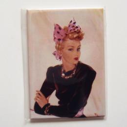 Wholesale Rectangle Magnets - Poster Magnets , Vintage Beauty Rectangle Fridge Magnet sfm-03 souvenir Drop Shipping Accept