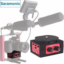 Wholesale Audio Mixer Microphone - Wholesale-Saramonic SR-AX101 2-Channel Audio Mixer Microphone Adapter with XLR & 3.5mm Inteface for Canon Panasonic DSLR Camera&Camcorder
