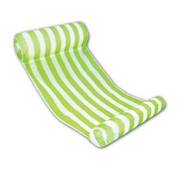 Camas flotantes online-Verano Hamaca de agua Nflatable Cama flotante Sala de agua Silla de baño Bule Inflable de la piscina verde rosa Resistente al desgaste 35qy dd