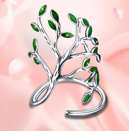 Wholesale Stainless Steel Infinity Ring - Wholesale-Genuine 100% leaves 925 Sterling Silver Jewelry Designer Brand Rings For Women Wedding Lady Infinity