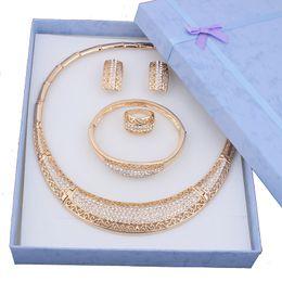 Wholesale Luxury Costume Jewelry Wholesale - whole saleHot sale Dubai Fashion vintage luxury rhinestone bridal necklace earring bracelet african costume gold color jewelry sets