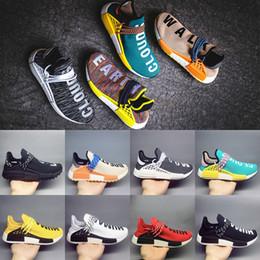Wholesale Womens Fashion Winter Boots - 2018 Hu Human Race Trail Running shoes Pharrell Williams Mens Womens Black White Yellow Nerd Fashion Sport Casual Sneakers Size US 5.5-12