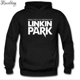 2019 impressão do hoodie da faixa Hoodies dos homens Rock Band Linkin Park Impresso Hoodie Homens Hip Hop de Lã de Manga Longa Camisola Dos Homens Treino de Inverno Streetwear impressão do hoodie da faixa barato