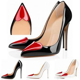Pompe stiletto a cuore online-Designer di marca Colori Scarpe donna tacchi alti scarpe da donna party wedding dress OL scarpe a punta stiletto a forma di cuore US 4-11 D0130