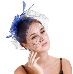 Avrupa ve Amerikan butik T sahne podyum örgü gelin tiara saç aksesuarları moda örgü tül şapka nereden siyah sarı şapka tedarikçiler