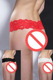 Sexy Pearl Thongs Lace G-String Damen Sexy Unterwäsche Damen Erotische Perlen Schlüpfer Farbe Schwarz Rot Weiß Plus Größe von Fabrikanten