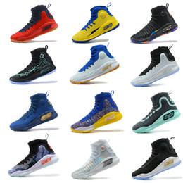 meisterschaft schuhe Rabatt 2019 Neue Stephen Curry 4 Basketballschuhe steph Mens Curry 4 Gold / Championship MVP Finals Sporttraining Turnschuhe Laufschuhe