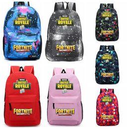 Wholesale casual teenager - 14 Colors Fortnite Battle Royale Backpack Shoulder Bags Backpacks Fortnite Teenager Students School Bag Sports Casual Bags CCA9871 12pcs
