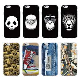 iphone affe fall Rabatt Für iphone xs max phone cases kühlen schwarzen panda affe adler transparent weichen handy case für iphone 6 7 x 8 plus