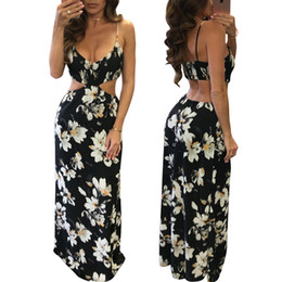 Fashion Ruffle Chiffon Black Sling Dress Donna Floral Ladies Maxi Long Summer Print Star Striped American Flag Beach Dress da