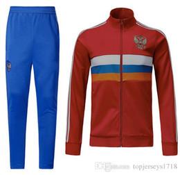 Wholesale russian suit - 2018 world cup Russia training suit 2018 world cup Russian Home red Football uniform kits Thai Quality #10 DZAGOEV #11 SMOLOV Soccer jackts