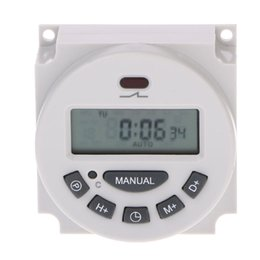 temporizador 12v dc Rebajas DC 12V LCD digital programable temporizador de relé Hora del programador electrónico semanal Electronic Timer Switch W315