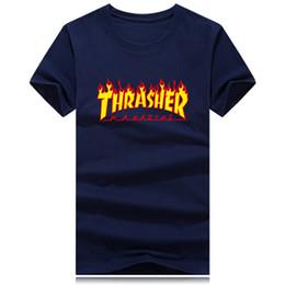 c15004e8d59 Fire big logo hommes T-shirts de mode nouvelle marque hommes manches  courtes T-shirt hommes Casual 100% coton Tshirt Tops Camisetas Hombre Camisa