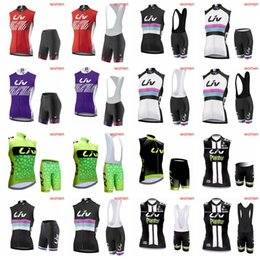 Wholesale Sale Products - LIV team Cycling Sleeveless jersey Vest (bib)shorts sets top sales women's outdoor riding new products comfortable D2011