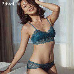 fd98e1ab12 plus size bra brands 2019 - 2018 Brand Lace Bras Blue Lingerie Set  Embroidery Thin Cotton