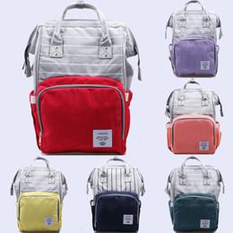 Wholesale Stripe Maternity - Mommy Bags Fashion stripe Mother handbag Multifunction Diaper Maternity Backpacks Outdoor infant Nursing Travel Bags C3855