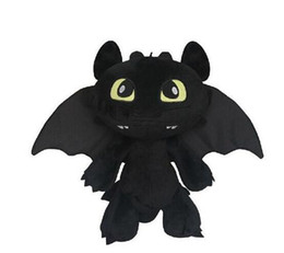 stuffed dragons Promo Codes - 30cm Night Fury How to Train your Dragon 2 Toothless Soft Plush dolls Soft Stuffed Toy Christmas Gifts