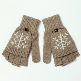Armstulpen Mädchen Arm Winter Handschuhe Lange Geschenk Warme Fingerless Für Frauen Schnee Muster Stricken Damen-accessoires