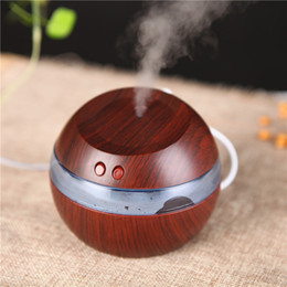 Wholesale Fedex Pack - New 300ml USB Ultrasonic Humidifier Aroma Diffuser Essential Oil Diffuser Aromatherapy mist maker with Blue LED Light Free DHL FEDEX