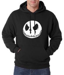 Wholesale Jack Skellington Wholesale - Wholesale- new arrival Jack Skellington men sweatshirts 2017 new spring winter men hoodie Nightmare Before Christmas hoodies men streetwear