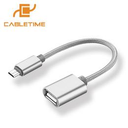 sumsang mobile Desconto Cabletime Micro USB OTG cabo USB 2.0 OTG conversor cabo adaptador portátil para Sumsang N074 telemóvel
