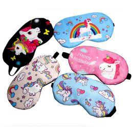 Kız Çocuk Genç Gözbağı Moda 5 renk esnek için Unicorn eyemask karikatür siperliği göz maskesi dinlenme göz Kapak nereden