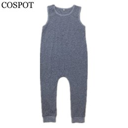 Saltadores de niños pequeños online-COSPOT Baby Boys Harem Rompers Toddler Summer Plain Grey Monos Kids Tank Playsuit Boy Fashion Jumper 2017 Nueva llegada 25F