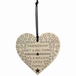 Canada VENTE CHAUDE l'amitié est un million de petites choses en bois suspendu coeur amis amour plaque Offre