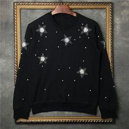 Pentagram de diamante on-line-Tags de marca Homens Hoodies Stone Diamond pentagrama com capuz de algodão masculino de manga comprida Pullover Sweatshirts