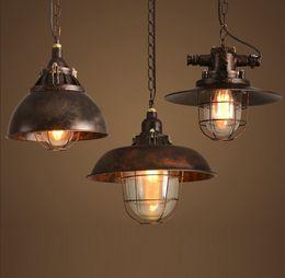 Wholesale Antique Industrial Light Fixtures - Loft Style Antique Iron Droplight Edison Pendant Light Fixtures Vintage Industrial Lighting For Dining Room Bar Hanging Lamp