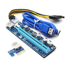pci cpu card Desconto PCI-E Ver 60cm 008C Ver008C Express Riser Card 1x a 16x USB 3.0 cabo de dados SATA para 15Pin-6Pin para BTC Bitcoin Litecoin Miner Machiner