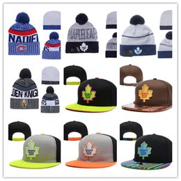 Wholesale Golden Knit - TORONTO MAPLE LEAFS Snapback Caps Adjustable Hat Vegas Golden Knights Knit Hat MONTREAL CANADIENS beanies Caps