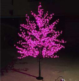 Персиковые светодиодные фонари онлайн-LED водонепроницаемый открытый пейзаж сад персиковое дерево моделирование лампы 1.5 m 480/576 огни LED вишневый цветение деревьев огни сад украшения