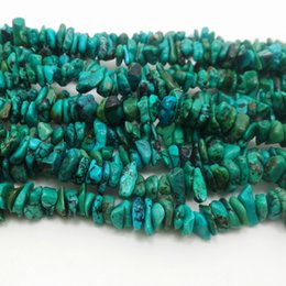 Wholesale Turquoise Bead Strand Necklace - Aaa 5mm-10mm Freeform Chips Shape Turquoises Green Beads Natural Stone Beads For Jewelry Making Diy Bracelet Necklace Strand 16'' 40.6cm