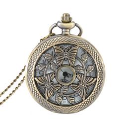 Полые бабочка случае кварцевые Fob карманные часы с ожерелье цепь стимпанк Мужчины Женщины подарки LL@17 от Поставщики английский для детей