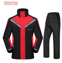 Wholesale Waterproof Suit Motorcycle - Fashion Super Waterproof Rain Suit Motorcycle Hooded Raincoat para moto impermeable motociclista Rain Coat motocicleta jaquetas