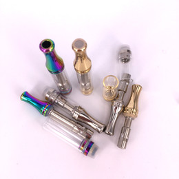 Rainbow metal vape on-line-DHL C9 Vazio Vaporizador caneta 510 Atomizador descartável Cartucho O Pen. 5 1 ml Vapor Tanque de Fumar Pyrex Rainbow color Cartuchos Vape