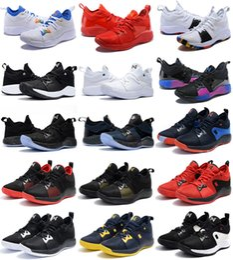 2019 couleurs de jeux 2018 nouvelles couleurs Paul George 2 chaussures de basket-ball pour pas cher Top qualité PG2 1 All star Playstation multicolore PG 2s baskets athlétiques US 7-12 promotion couleurs de jeux