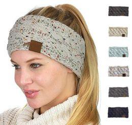 8 Fotos Compra On-line Acessórios de cabelo de inverno-New 21 Cor Malhadas  Headbands Mulheres 6f3f0f73cb5