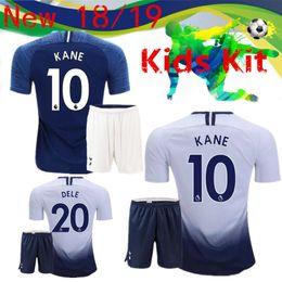 a0afe2554 18 19 KANE spurs kids Kit Soccer Jersey 2018 2019 Soccer Jerseys LAMELA  ERIKSEN DELE SON Home Away Lamela child Football shirt