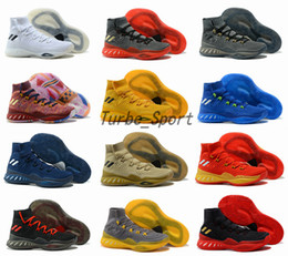 Wholesale Crazy Leather Shoes - 16 Colors 2018 Crazy Explosive Boost 2017 Andrew Wiggins Basketball Shoes for High quality Mens Socks Sports Training Sneakers Size 7-12